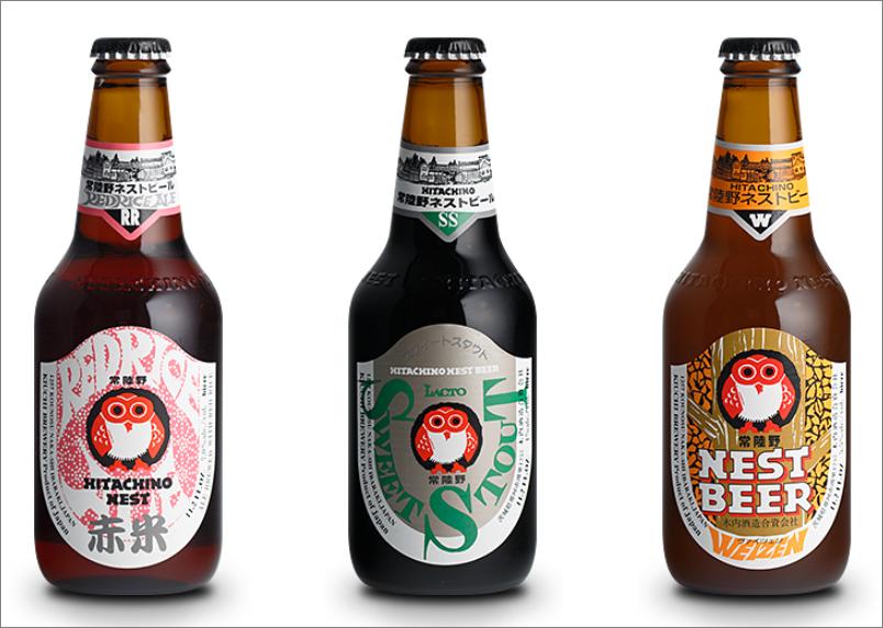 常陸野ネストビールの瓶