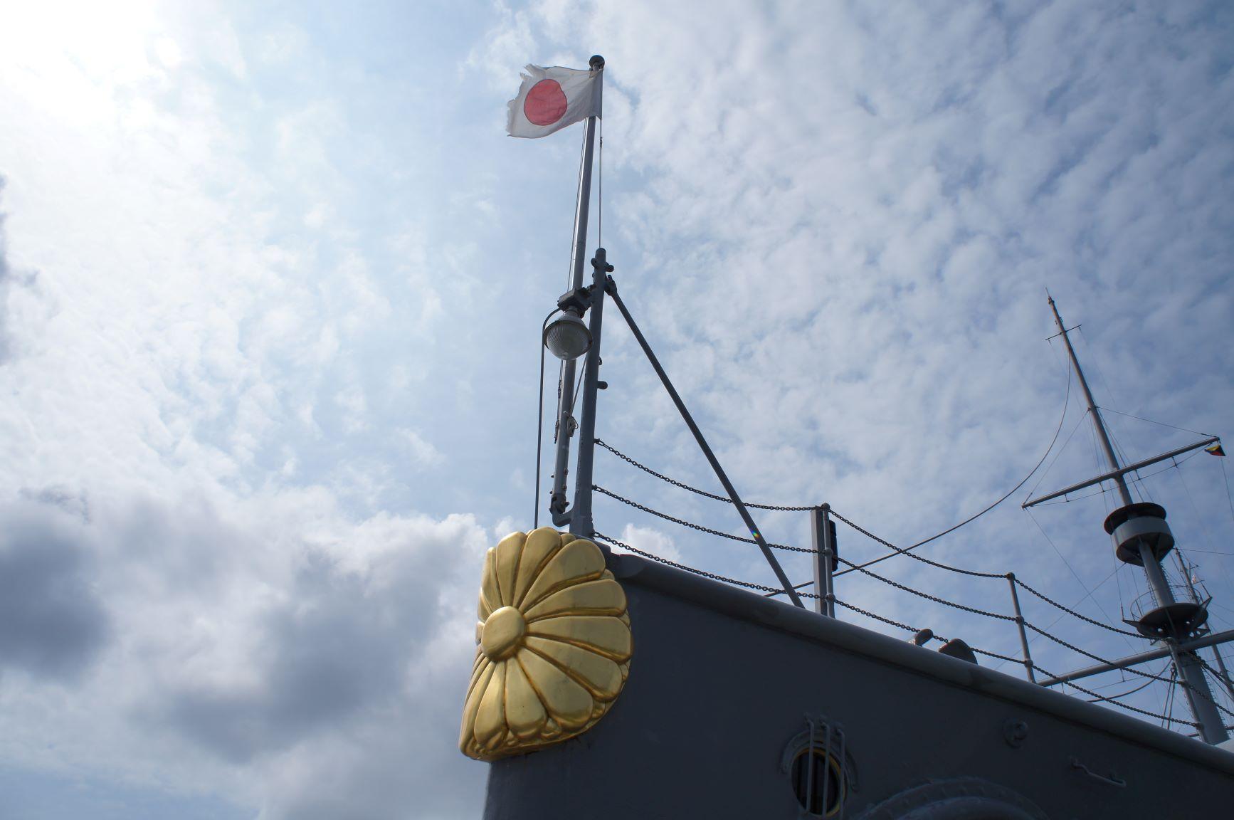 三笠の艦首