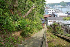 横須賀市で最も古い公園「愛宕山公園」の散策路から見える浦賀港の景色