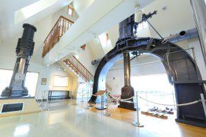 横須賀市のヴェルニー記念館にある横須賀製鉄所で使用されてた日本最古の「スチームハンマー」